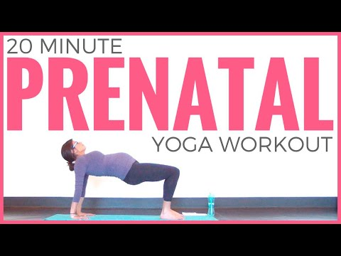 Prenatal Yoga Workout (20 Minute Yoga) Pregnancy Yoga For ALL Trimesters | Sarah Beth Yoga