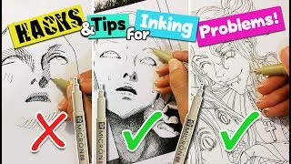 HACKS & TIPS for Microns you NEED to know!▼ solving common inking problems▼ ARTIST LIFE HACKS