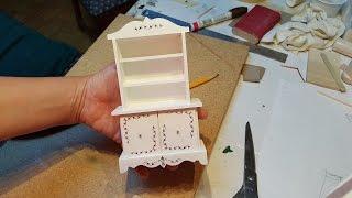 Miniature Dollhouse Hutch