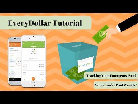 EveryDollar Tutorial: Tracking Your Emergency Fund with Weekly Paychecks