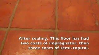 Terracotta Floor Cleaned & Sealed