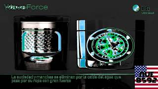 LG Lavadora 6 Motion Wave Force in SpaceEarthFlangedSawChorded
