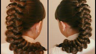 Коса трёхпрядная  Очень просто  Видео урок для новичков в косоплетении  Красивая коса