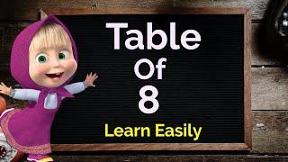 Table of 8, Learn Multiplication Table of 8, 8 ka Table, 8 ka pahada, Maths Table