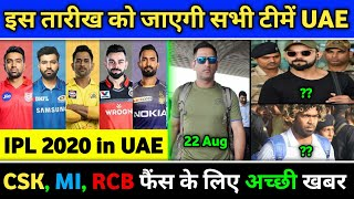 IPL 2020 - All 8 teams will go to UAE on this date | 2020 IPL Schedule & Time Table - Download this Video in MP3, M4A, WEBM, MP4, 3GP