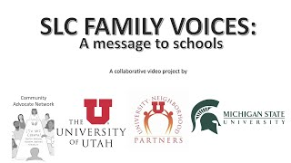 SLC Family Voices: A Message to Schools