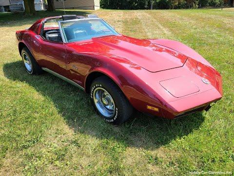 1974 Dark Red Corvette For Sale Video