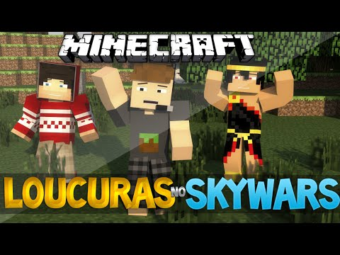 MINECRAFT: Loucuras No Skywars!-Ft. Zeus e Mano Hades