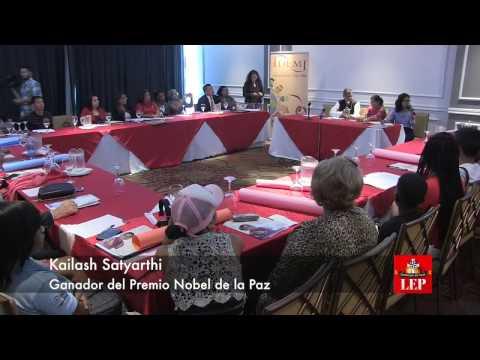 Kailash Satyarthi, ganador del Premio Nobel de la Paz llega a Panamá