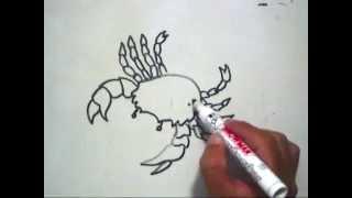 Gambar Cara Menggambar Kepiting Yang Berkilauan Untuk Anak An Cara