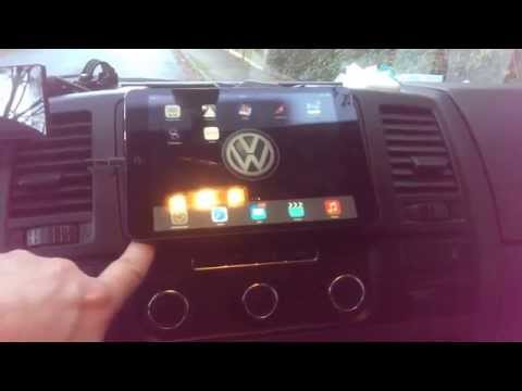 Ipad mini im VW T5 als Navi bzw Mediaplayer - Einbau nur 5min  / Ipad mini easy car dashboard