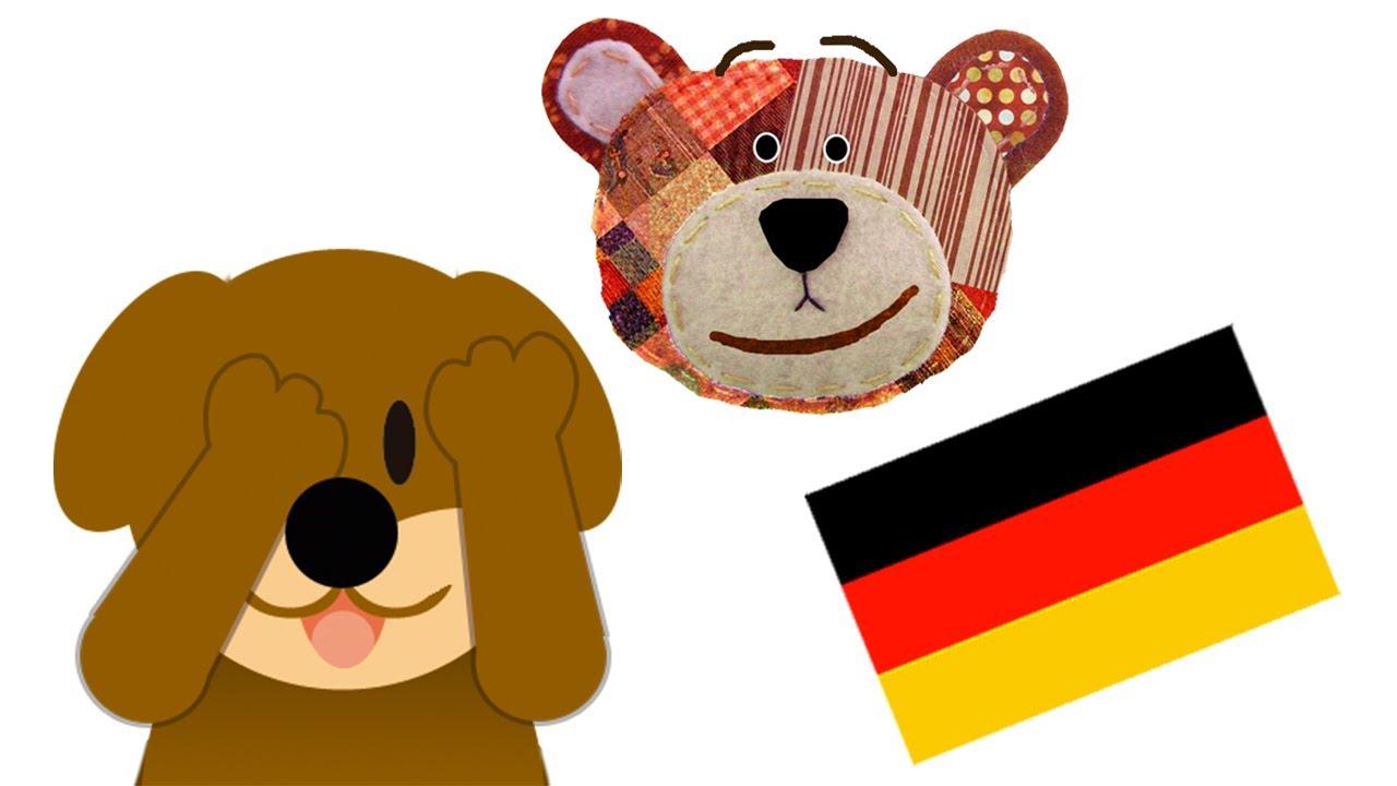 Traposo juega al escondite - Animales en alemán
