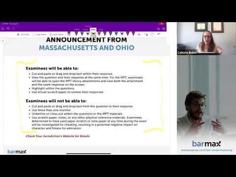 Preparing for the NCBE Remote Bar Exam Webinar - BarMax Bar ...