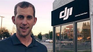"""FLYING A DRONE INSIDE THE NEW DJI STORE IN """"LOS ANGELES"""""""