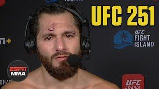 Jorge Masvidal: Kamaru Usman fought a \'beautiful\' fight | UFC 251 Post Show | ESPN MMA