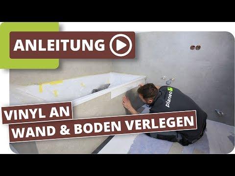 Bad abdichten – Vinyl an Wand und Boden verlegen