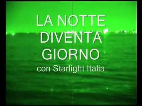 Traversata notturna con dispositivo di visione Starlight Italia