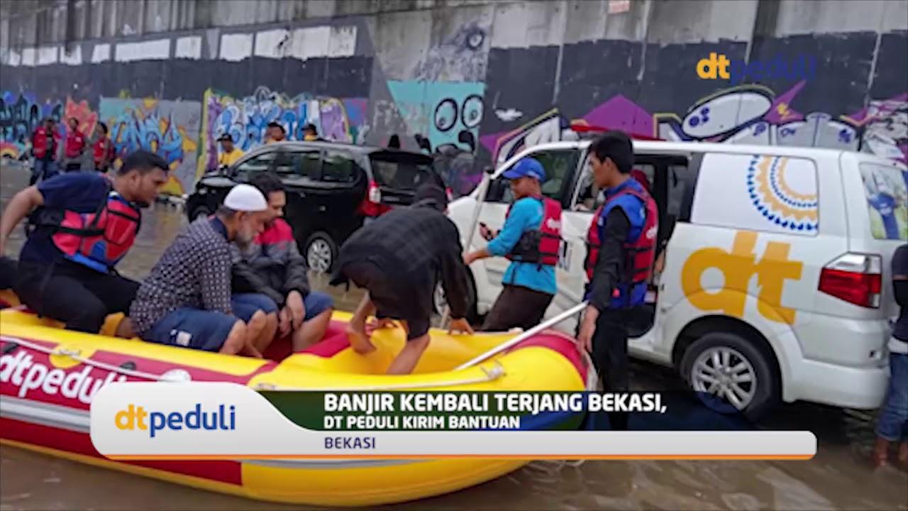 Banjir Kembali Terjang Bekasi, DT Peduli Kirim Bantuan