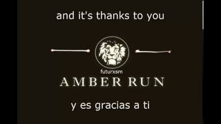 Amber Run -  Thank You (Lyrics + Subtítulos en Español)