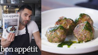 Andy Makes Spicy Lamb Meatballs with Raisin Pesto | From the Test Kitchen | Bon Appétit