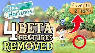 Animal Crossing New Horizons: 4 BETA FEATURES REMOVED (Old Details & Secrets Revealed for ACNH)