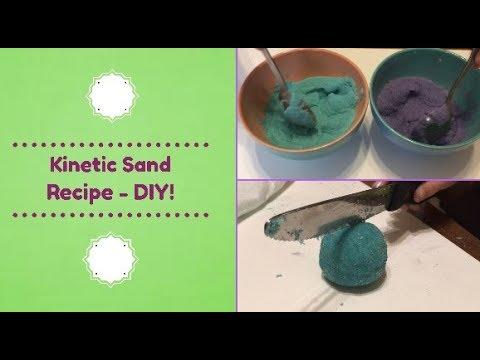 Kinetic Sand Recipe! DIY!