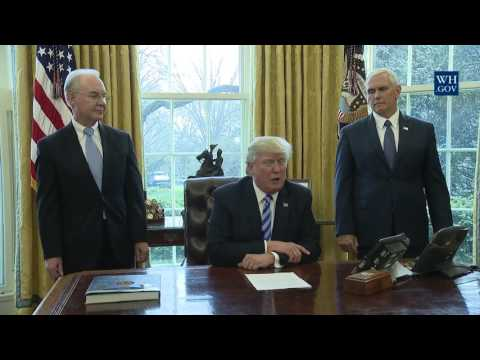 President Trump Makes Statement About Health Care Bill
