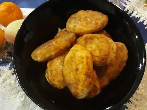 Жареные пирожки с картошкой на кефире  Тесто за несколько минут