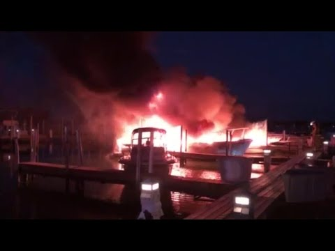Several boats reportedly damaged after yacht club in Grosse Ile