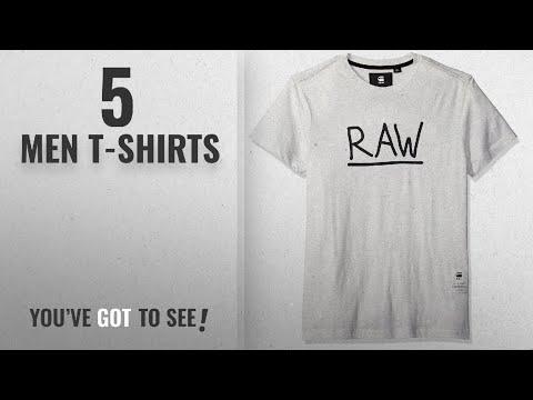G-Star Raw T-Shirts [ Winter 2018 ]: G-Star Raw Men's Manes Short Sleeve Logo T-shirt,SnowHeather,L