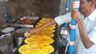 Famous Ram Ki Bandi Dosa, Hyderabad, India- 7 Dosas at one time