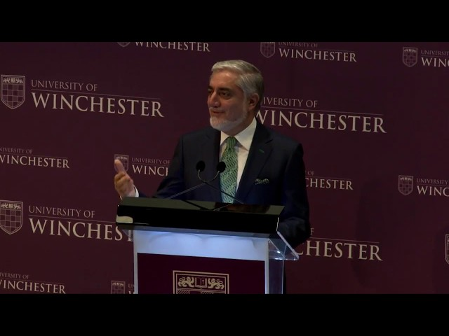 Chief Executive Abdullah Abdullah Delivers Lecture at the University of Winchester