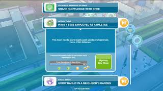 WEEKLY TASKS: Have 4 sims employed as athletes - Sims FreePlay