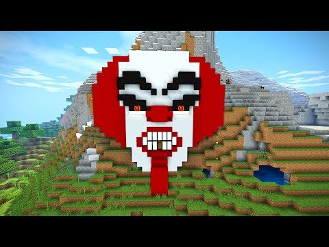 Minecraft Tutorial: How to Make a Clown House | Scary Halloween House | Cave House | IT Clown