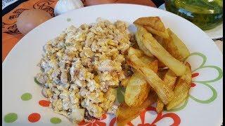 Revuelto de seso y huevos || Cocina con Rock