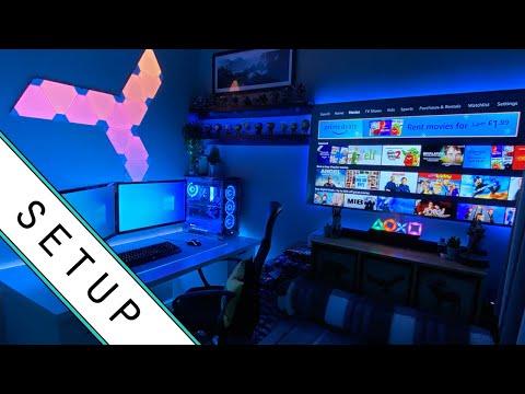 Gaming Setup / Room Tour! - 2020 - Ultimate Small Room Setup!