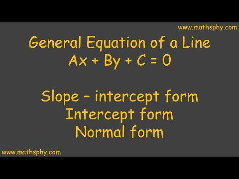 General equations of straight line