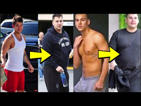 Rob Kardashian 100lb weight gain. Steroids? Hair falling out, his break up