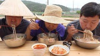 더위 날리는 시원한 [[물냉면(Cold Buckwheat Noodles)]] 요리&먹방!! - Mukbang eating show