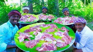 MUTTON 65   Boneless Mutton Fry Recipe Cooking In Village   Cooking Special 65 Recipe in Mutton Meat