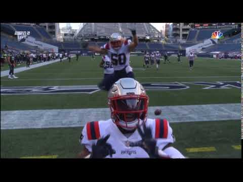 """""""TWO EIGHT WE LOVE YOU"""" Devin McCourty to James White after his pick 6"""