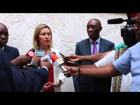 HRVP Mogherini following her meeting with Filipe Jacinto NYUSI, President of Mozambique