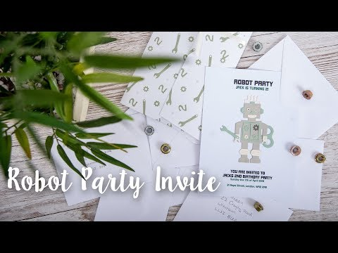 DIY: How to Create 50's Robot Party Invitations - Sizzix
