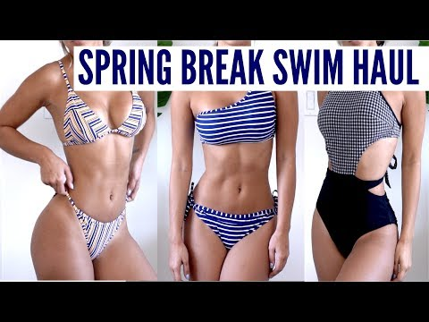 SPRING BREAK Swimwear Try-On Haul | CUPSHE REVIEW