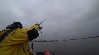 Ловля окуня на озере в декабре