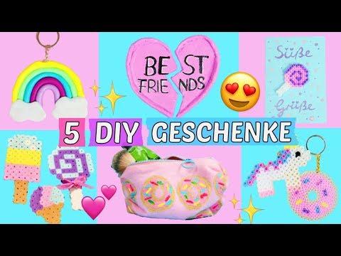 5 süße DIY GESCHENKE für FREUNDIN, BFF & MAMA selber machen 🎁GESCHENKIDEEN günstig BASTELN 💖