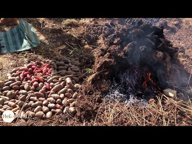 Traditionelle Zubereitung von peruanischen Papas