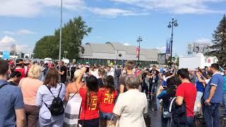 Before the match England-Belgium world Cup 2018/Фан-Променад_Бельгия-Англия полуфинал ЧМ 2018