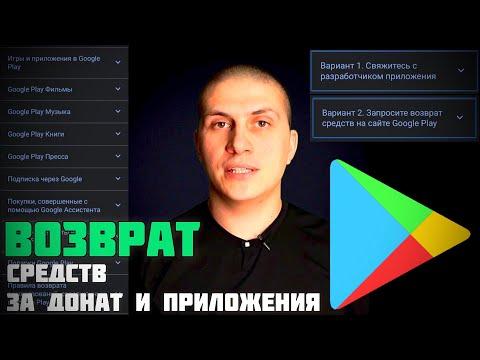 Запросить возврат денежных средств с Play Market (Google) и разработчика: iApple Expert техноканал