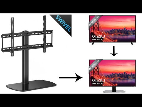 Swivel Universal TV Stand Base - Converting Side End TV Stands/Mounts To Middle TV Base Stand Mp3